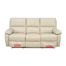 Leslie 3 Seater Sofa Manual Recliner, Cream