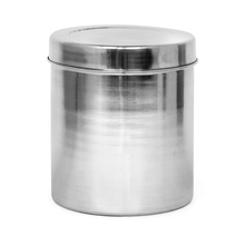 Plain Cereal 6.2 Litre Stainless Steel Round Container, Silver