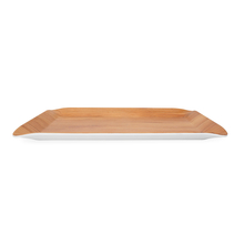 Trinity Teak Large Rectangle Serving Tray - @home by Nilkamal, Brown