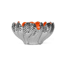 Feather Delight Floral Bowl, Orange