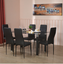 Isaac 6 Seater Dining Kit, Black