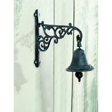 Hooked Small Door Bell - @home by Nilkamal, Brown & Cream