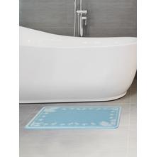 Flamingo 45 cm x 35 cm Bath Mat,  blue