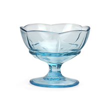 Footed 160 ml Ice Cream Bowl Set of 2,  blue