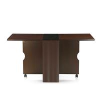 Gypsy 4 Seater Foldable Dining Table - @home by Nilkamal, Dark Walnut