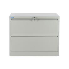 Nilkamal Retro 2 Drawer Filing Cabinet, Grey
