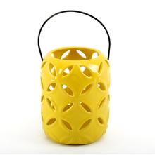 Hanging Lantern 15 cm x 18 cm - @home by Nilkamal, Yellow