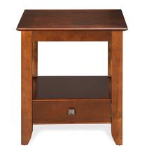 Crest Side Table - @home by Nilkamal, Walnut