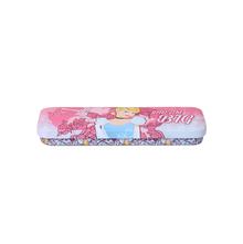 Cindrella Metal Rectangle Pencil Box, Pink
