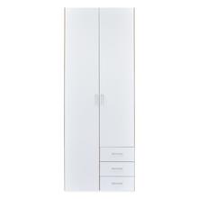 Masters High Gloss 2 Door Wardrobe - @home By Nilkamal, Oak and White
