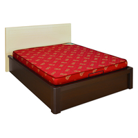 Nilkamal Value 4 Inches Foam Mattress,  maroon, 72x30x4