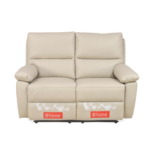 Leslie 2 Seater Sofa Manual Recliner, Cream