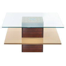 Rhames Center Table- @home By Nilkamal, Beige & Walnut