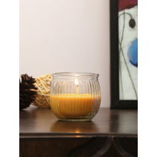 Indian Essence Swirl 6 Pieces Cup Candles, Yellow