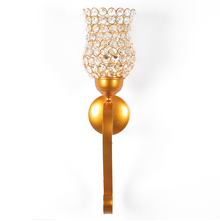 Large Crystal Drops Wall Candle Stand - @home by Nilkamal, Gold