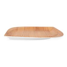 Trinity Teak Wood Square Dinner Plate - @home by Nilkamal, Brown
