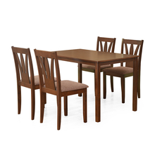 Bony 4 Seater Dining Kit - @home by Nilkamal,  brown
