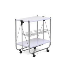 Keev Folding Serving Cart - @home by Nilkamal,  white