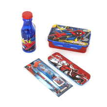 Spiderman 36 Pieces Set School Kit, Black & Blue