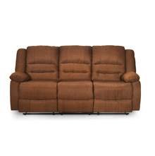Quinn 3 Seater Sofa with 2 Manual Recliners - @home by Nilkamal, Sand Brown