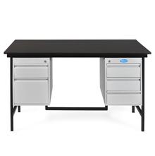 Nilkamal Zurina 4.5 Feet Office Table, Grey & Beech