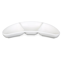 Chutney 22X9CM 3 Sector Serving Boomerang, White