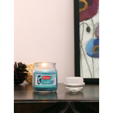 Aqua Mist Jar Candles Set of 2, Sea Green