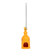 Free Bird Cage Candle Stand, Mustard