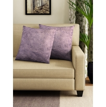 SOLID CUSHION COVER SET OF 2, PURPLE