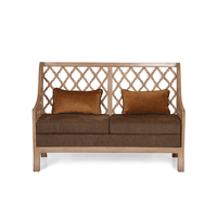 Miraya 2 Seater Sofa - @home by Nilkamal,  brown