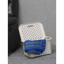 23 litre Laundry Basket with Lid, Beige