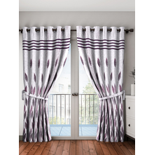 Zinia Blackout Door Curtain Set of 2, Brown