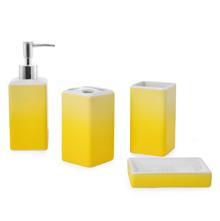 Gradation Bath Accessory Set - @home by Nilkamal, Yellow
