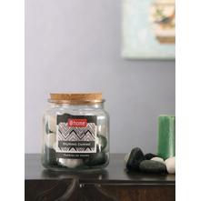 Big Stone Pebbles Jar, Black & White