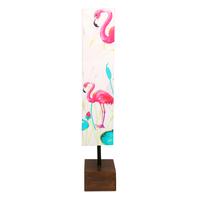 Flamingo Fabric & Wood Floor Lamp - @home by Nilkamal, Multicolor