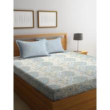 Damask 250 cm x 274 cm Double Bedsheet, Beige