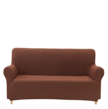 3 Seater Knit Sofa Cover, Brown
