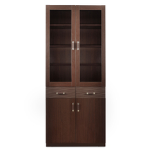 Winner 2 Door Library Cabinet - @home by Nilkamal, Dark Walnut