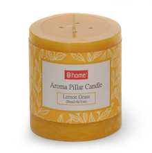 Lemon Small Pillar Candle - @home by Nilkamal, Yellow