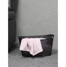 50 litre Ratan Laundry Basket with Lid, Brown