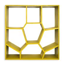 Honeycomb Wall Shelf - @home By Nilkamal, Olive Green