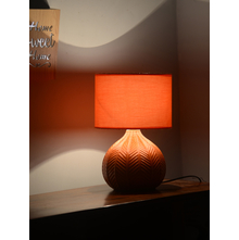 Geometric Leaf 28X38CM Large Table Lamp, Orange