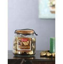 Big Stone Pebbles Jar, Gold