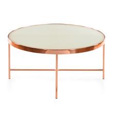 Floris Center Table - @home by Nilkamal, White & Copper