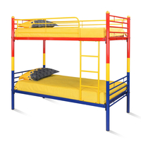 Nemo Bunk Bed without Storage - @home by Nilkamal, Red, Yellow & Blue