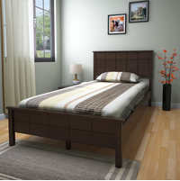 Cipher Single Bed without Storage - @home by Nilkamal, Espresso