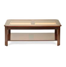 Cindy Center Table, Bronze Walnut