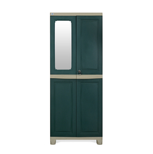Nilkamal FB1 Freedom Cupboard with 1 Mirror - Olive Green and Pastle Green