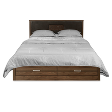 Leaf Queen Bed with Drawer String, Wenge