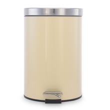 Classic 7 Litre Step Dustbin - @home by Nilkamal, Beige